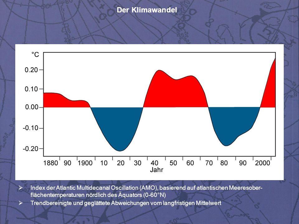 Index der Atlantic Multidecanal Oscillation (AMO), basierend auf atlantischen Meeresober-flächentemperaturen nördlich des Äquators (0-60°N)