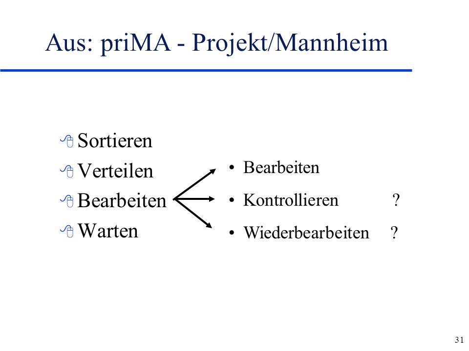 Aus: priMA - Projekt/Mannheim