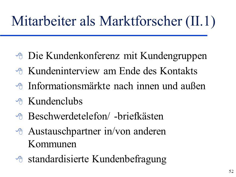Mitarbeiter als Marktforscher (II.1)