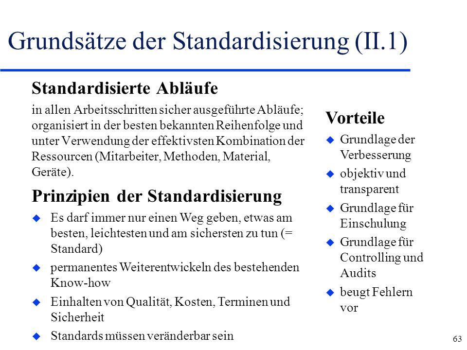 Grundsätze der Standardisierung (II.1)