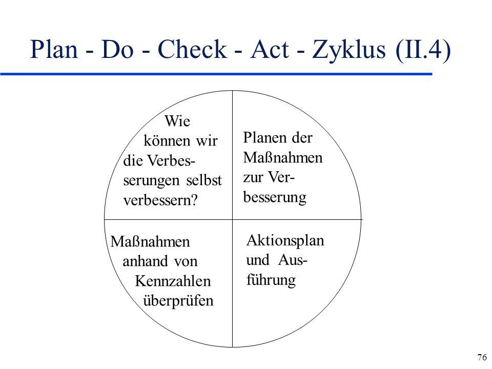Plan - Do - Check - Act - Zyklus (II.4)
