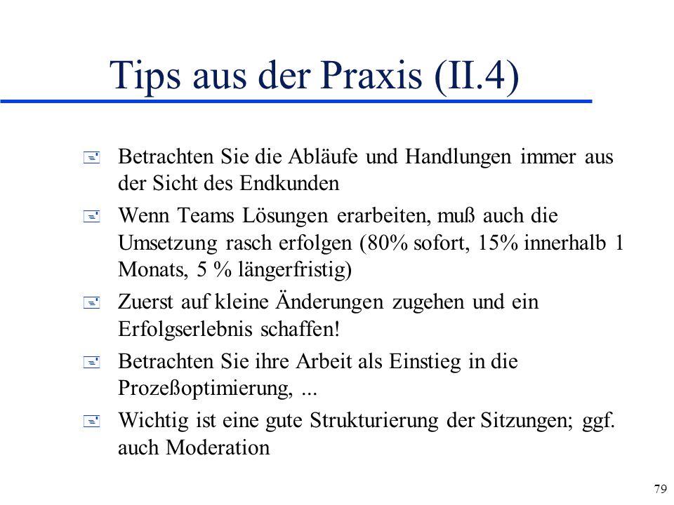 Tips aus der Praxis (II.4)