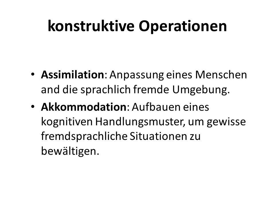 konstruktive Operationen