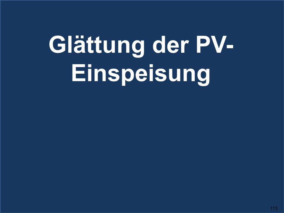 Glättung der PV-Einspeisung
