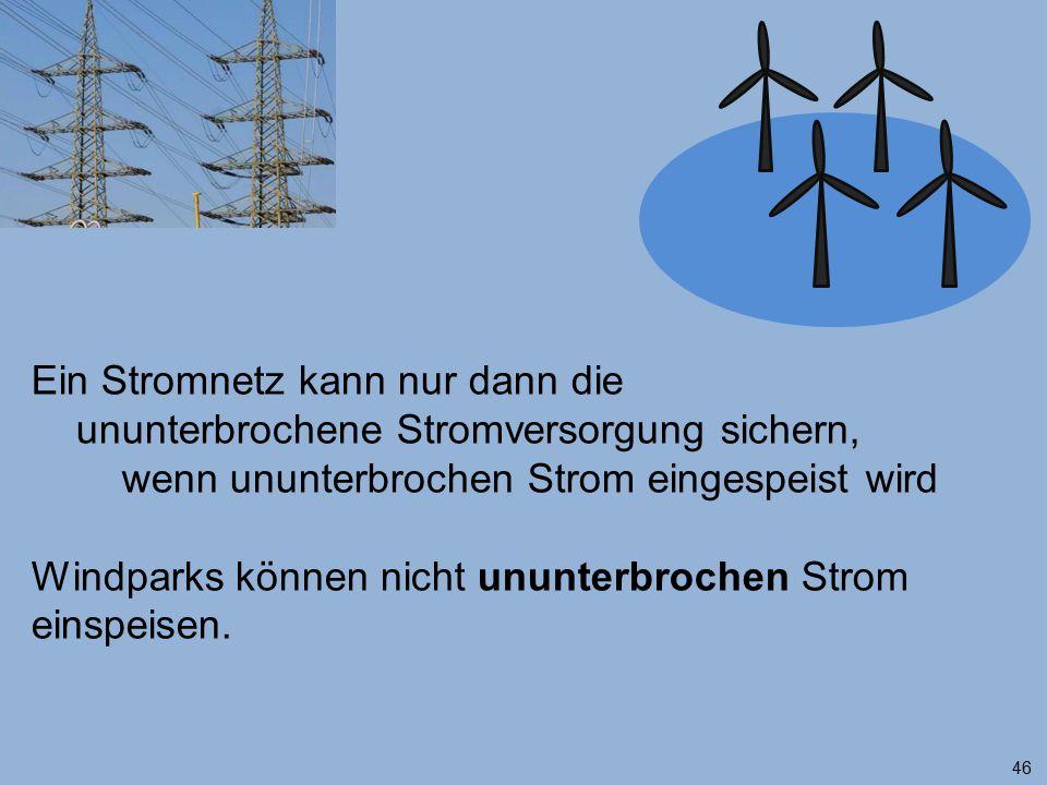 Ein Stromnetz kann nur dann die