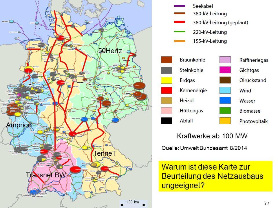 Warum ist diese Karte zur Beurteilung des Netzausbaus ungeeignet