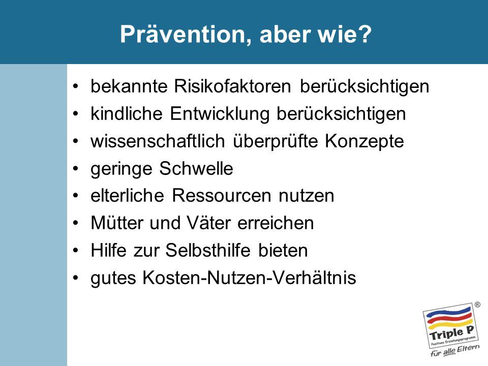 Prävention, aber wie bekannte Risikofaktoren berücksichtigen