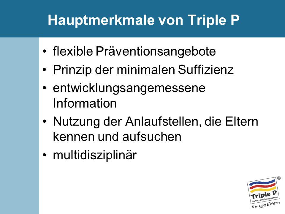 Hauptmerkmale von Triple P