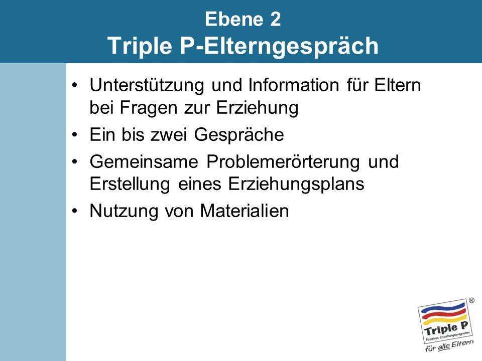Ebene 2 Triple P-Elterngespräch