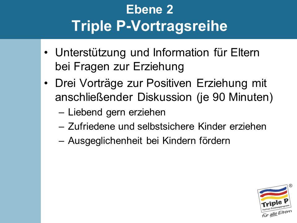 Ebene 2 Triple P-Vortragsreihe