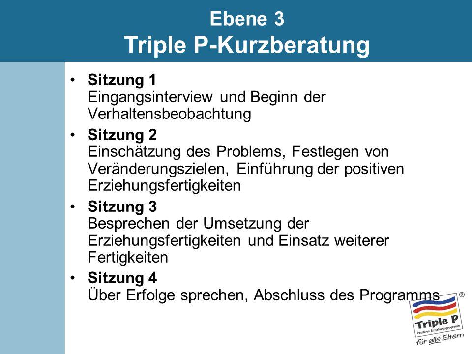Ebene 3 Triple P-Kurzberatung