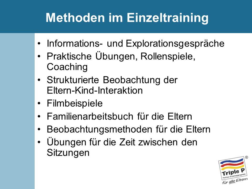 Methoden im Einzeltraining