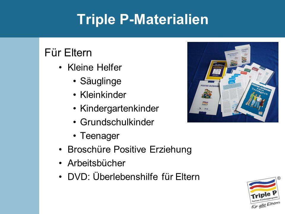 Triple P-Materialien Für Eltern Kleine Helfer Säuglinge Kleinkinder