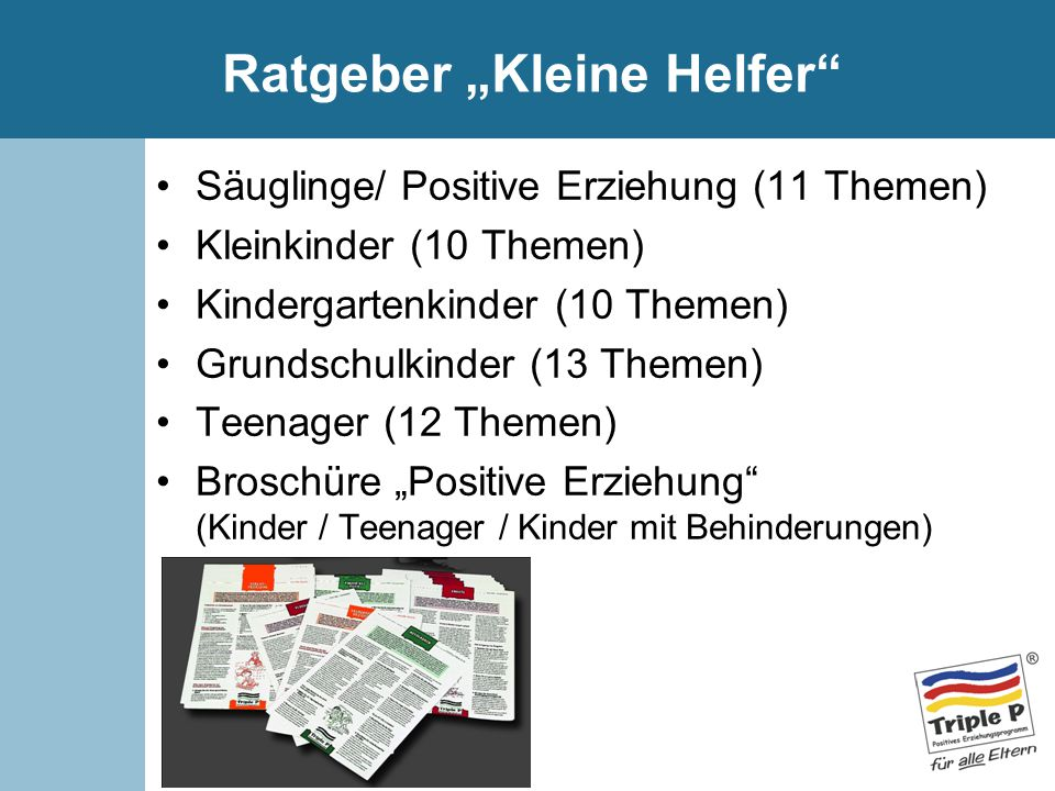 """Ratgeber """"Kleine Helfer"""