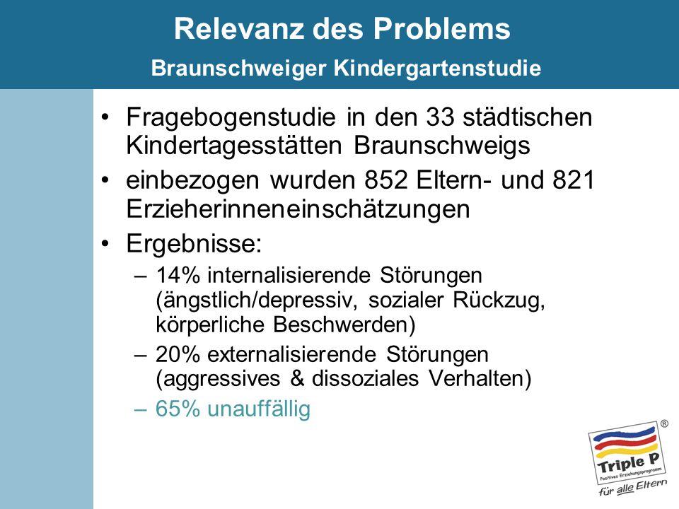 Relevanz des Problems Braunschweiger Kindergartenstudie