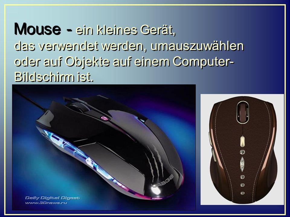 Mouse - ein kleines Gerät, das verwendet werden, umauszuwählen oder auf Objekte auf einem Computer-Bildschirm ist.