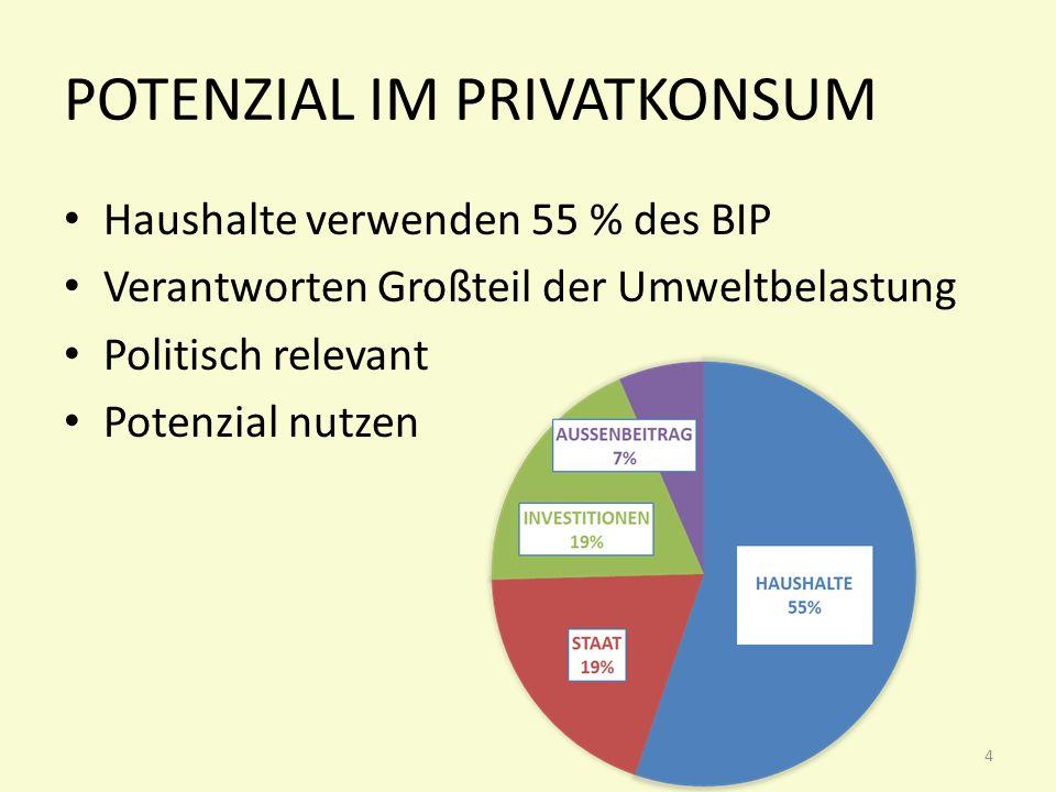 Potenzial im privatkonsum