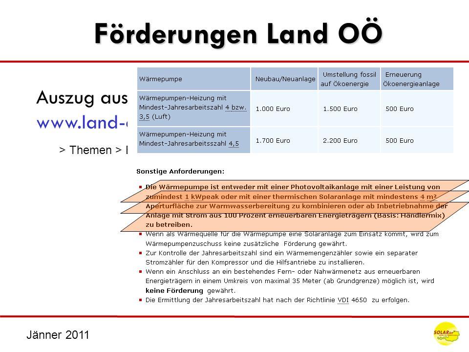 Förderungen Land OÖ Auszug aus der Förderrichtlinien des Landes www.land-oberoesterreich.gv.at > Themen > Bauen und Wohnen > Förderungen > ….