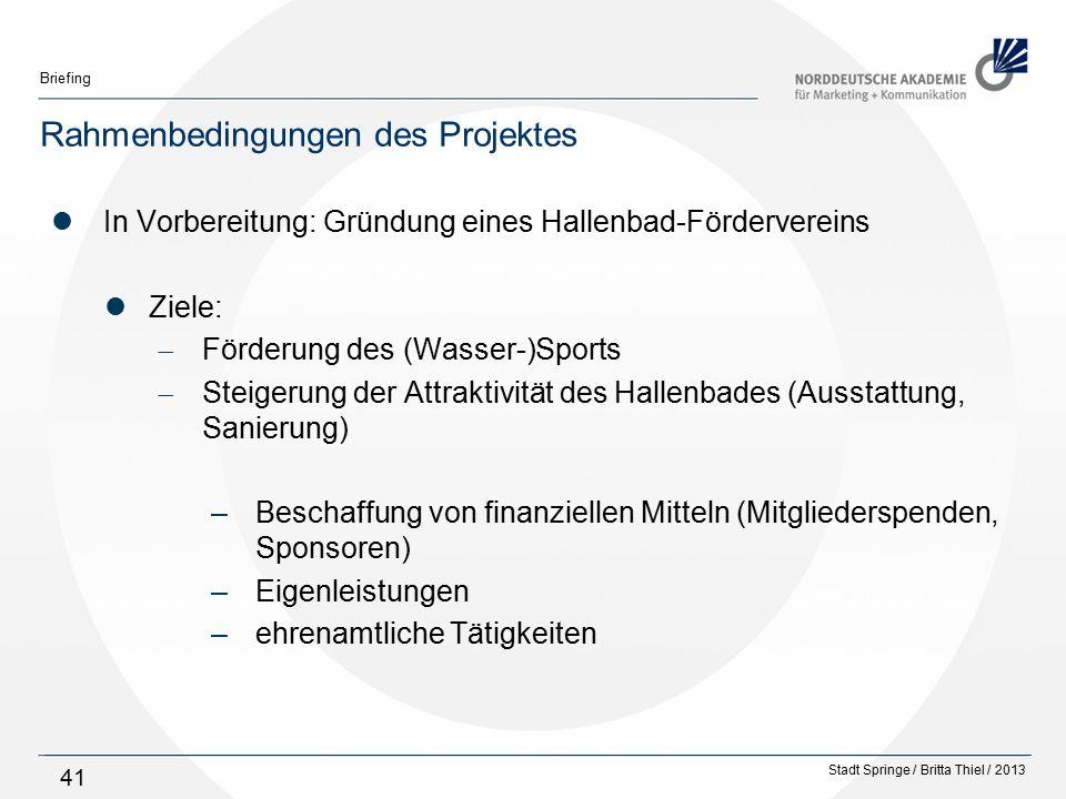 Rahmenbedingungen des Projektes