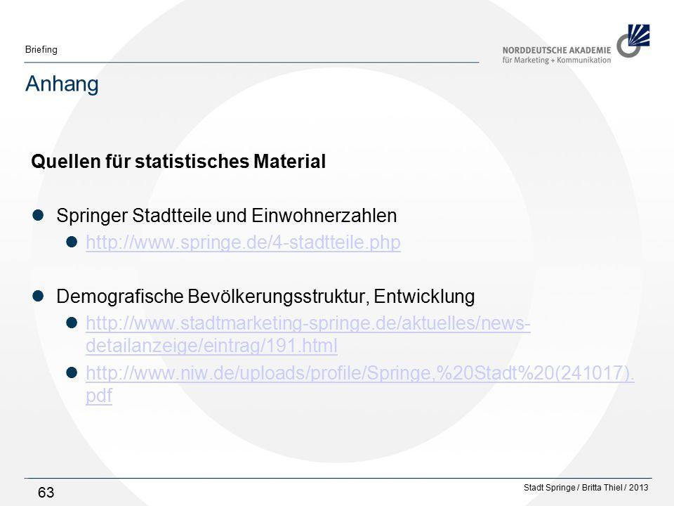 Anhang Quellen für statistisches Material