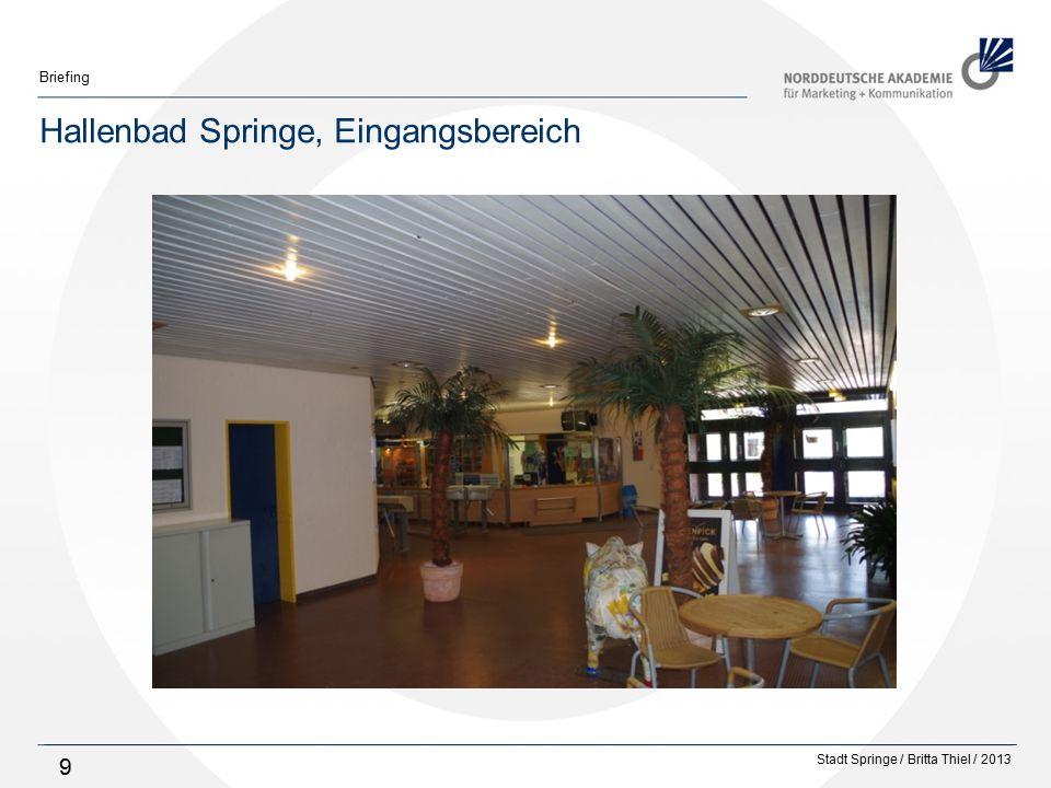 Hallenbad Springe, Eingangsbereich