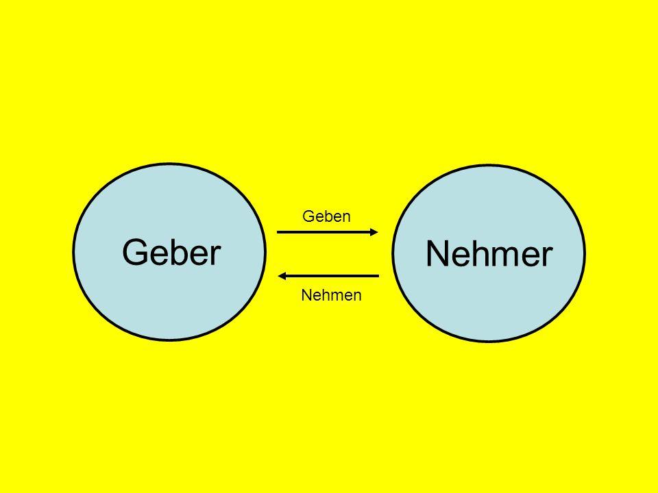 Geber Nehmer Geben Nehmen © Dr. Kai Romhardt www.romhardt.com