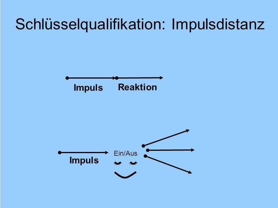 Schlüsselqualifikation: Impulsdistanz
