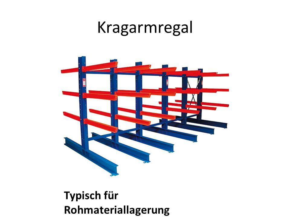 Kragarmregal Typisch für Rohmateriallagerung
