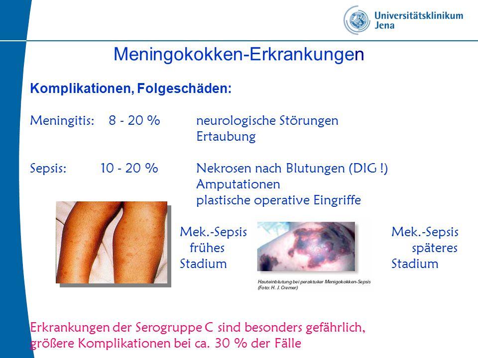 Meningokokken-Erkrankungen