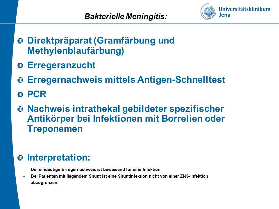 Bakterielle Meningitis: