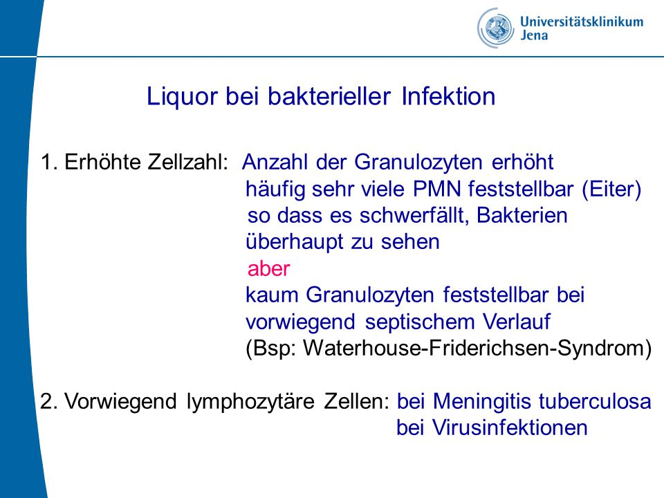 Liquor bei bakterieller Infektion
