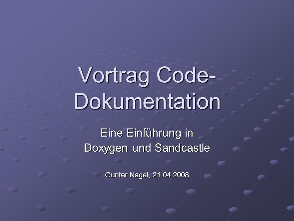 Vortrag Code-Dokumentation