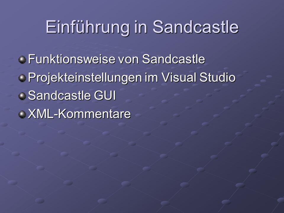Einführung in Sandcastle