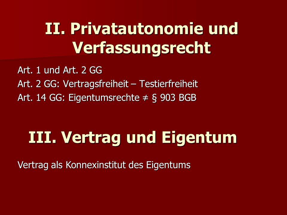 II. Privatautonomie und Verfassungsrecht