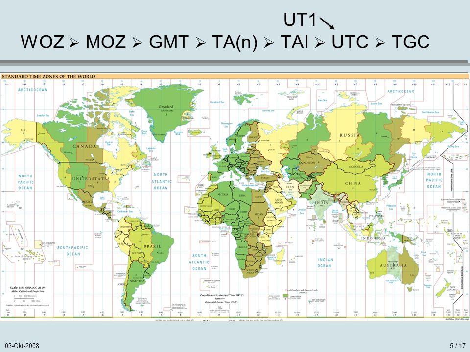 WOZ  MOZ  GMT  TA(n)  TAI  UTC  TGC