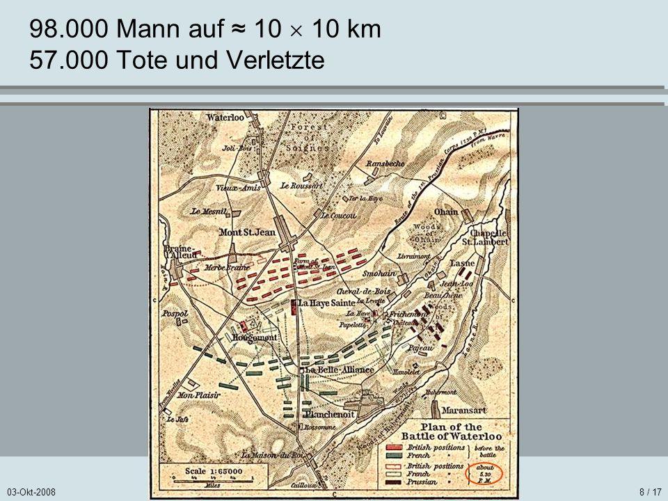 98.000 Mann auf ≈ 10  10 km 57.000 Tote und Verletzte