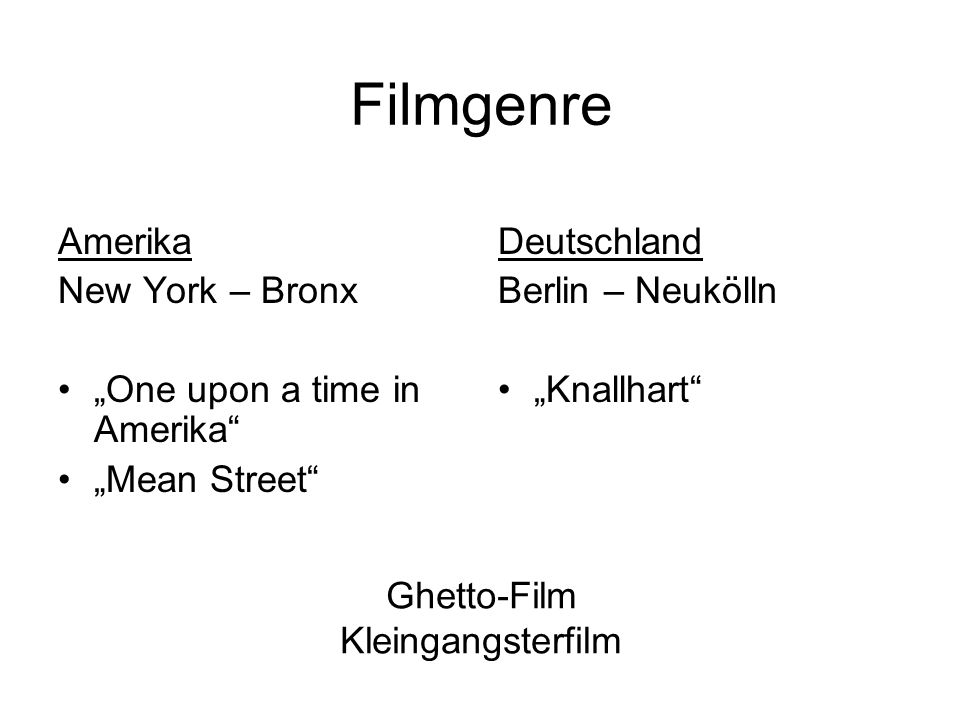 Ghetto-Film Kleingangsterfilm