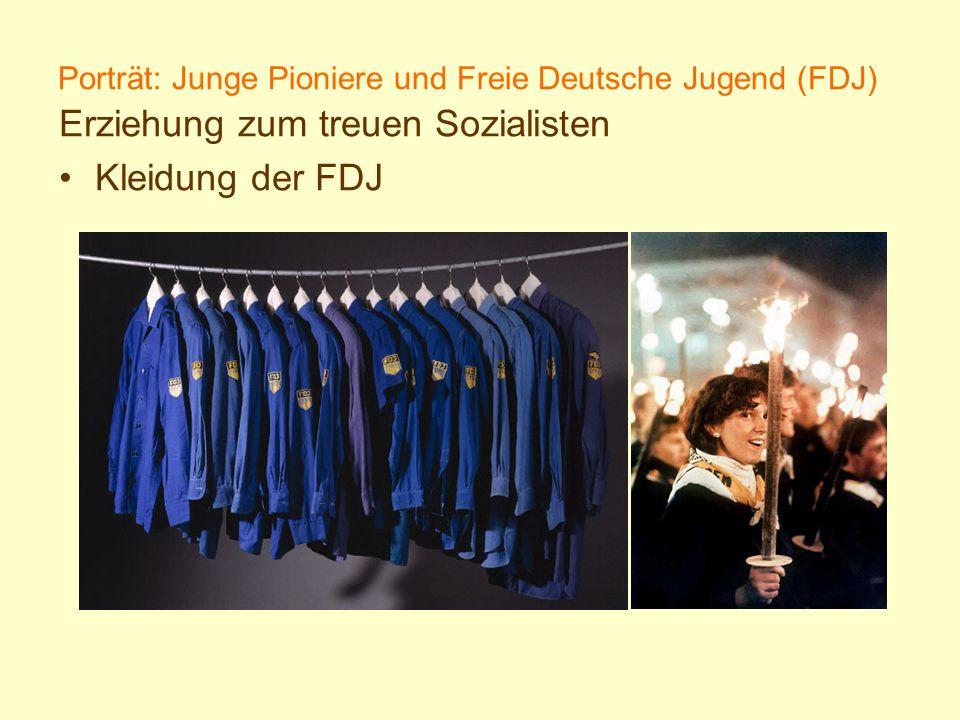 Porträt: Junge Pioniere und Freie Deutsche Jugend (FDJ)