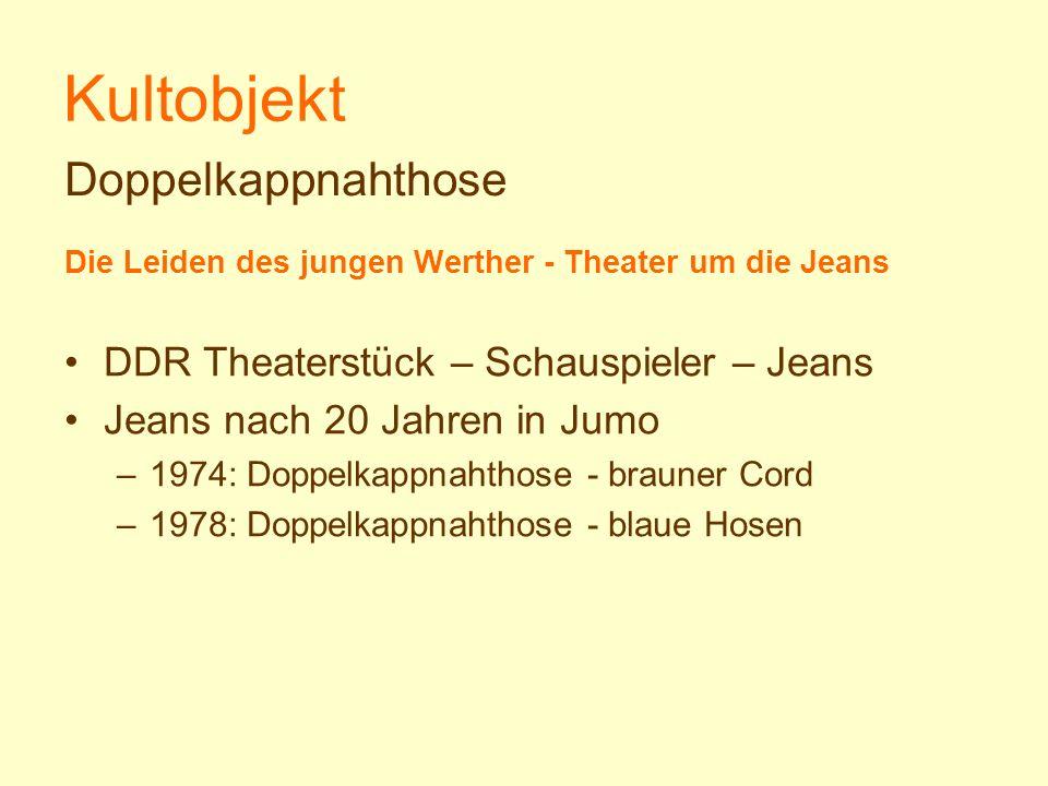 Kultobjekt Doppelkappnahthose DDR Theaterstück – Schauspieler – Jeans