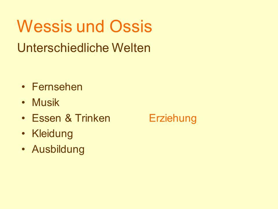 Wessis und Ossis Unterschiedliche Welten Fernsehen Musik
