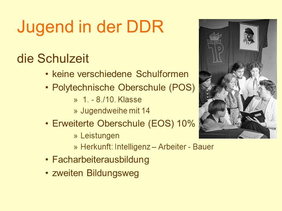 Jugend in der DDR die Schulzeit keine verschiedene Schulformen