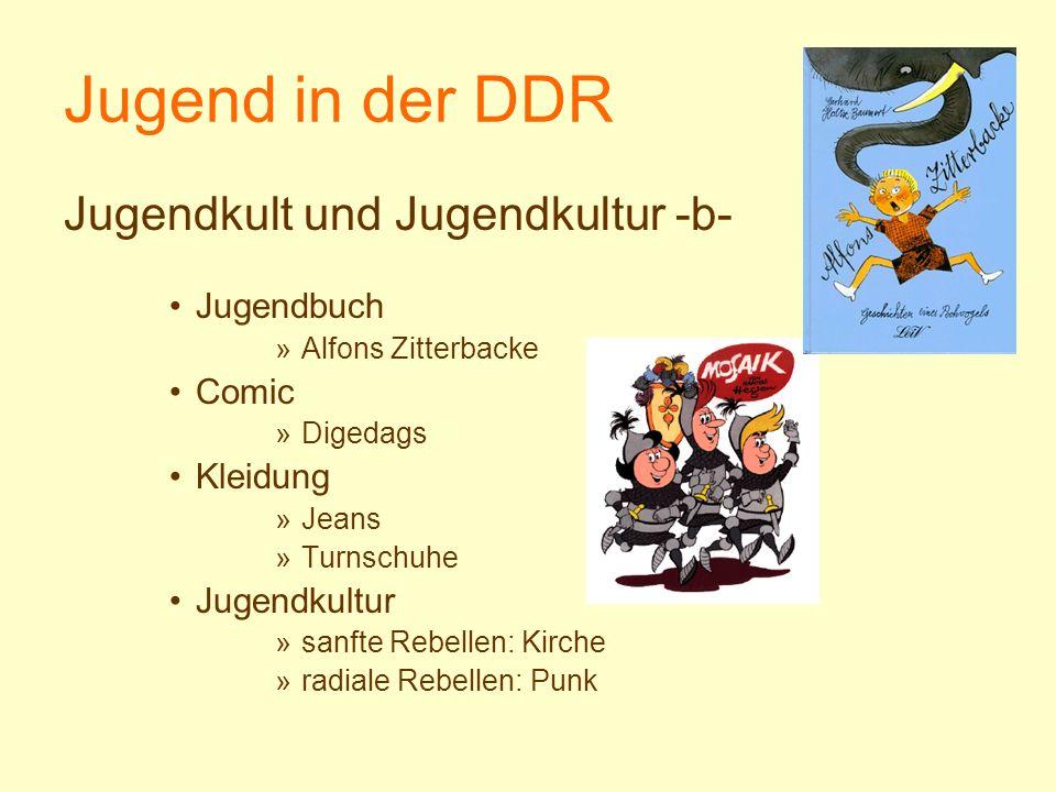 Jugend in der DDR Jugendkult und Jugendkultur -b- Jugendbuch Comic