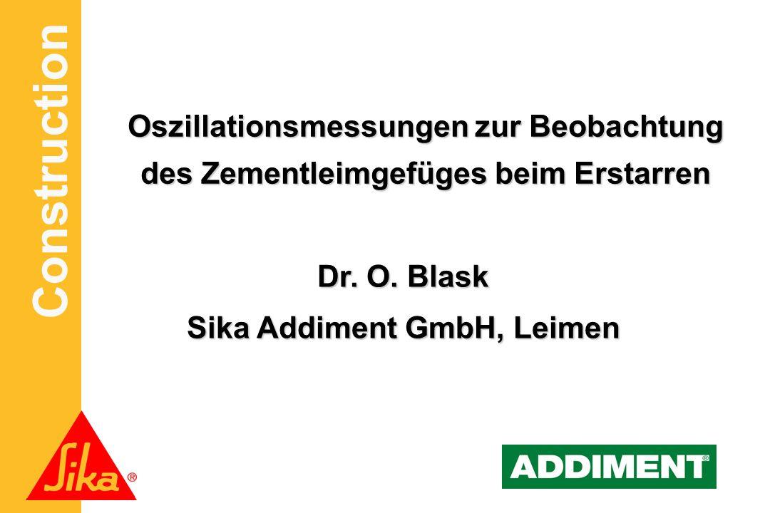 Oszillationsmessungen zur Beobachtung