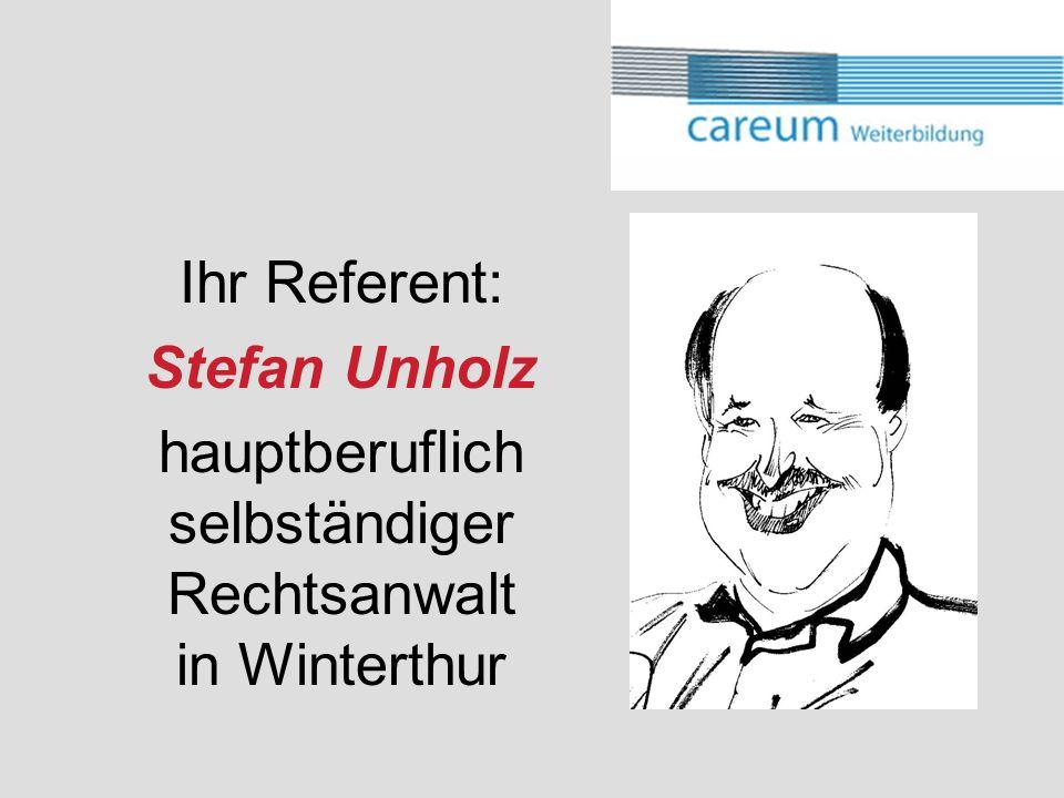 hauptberuflich selbständiger Rechtsanwalt in Winterthur
