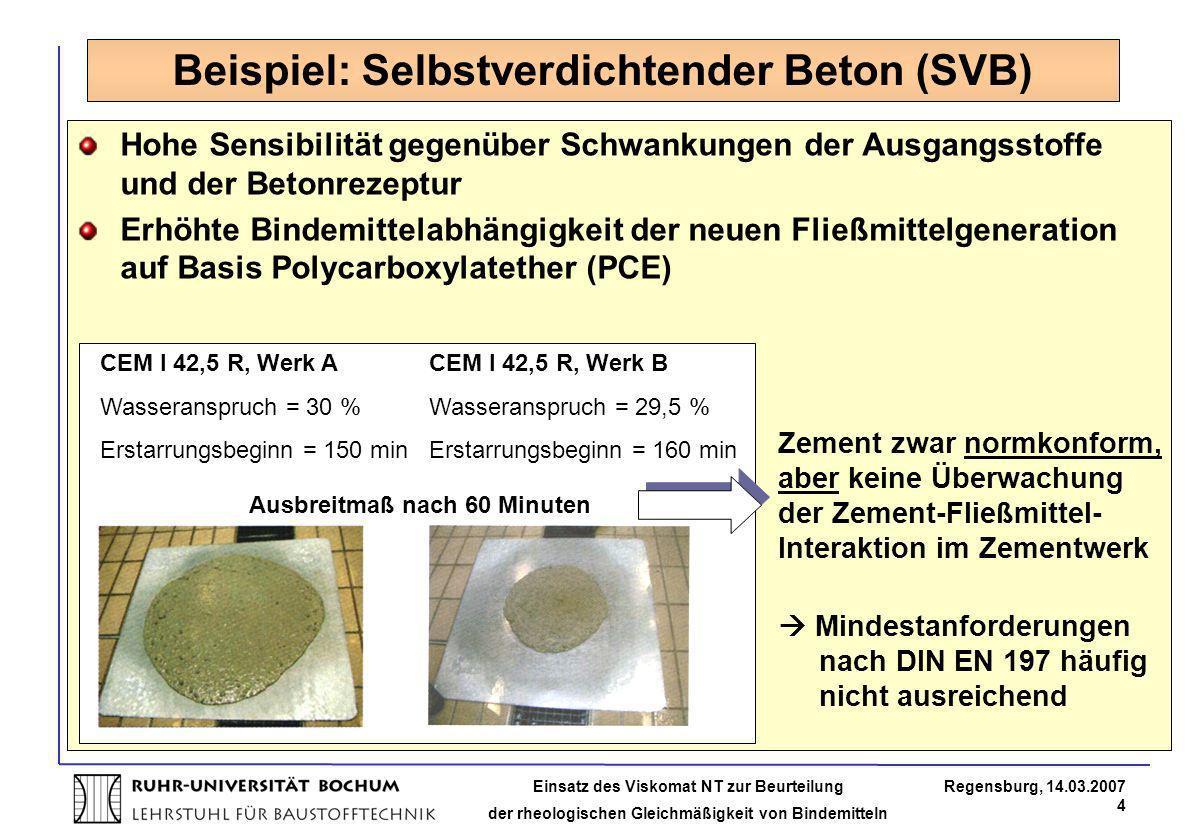 Beispiel: Selbstverdichtender Beton (SVB)