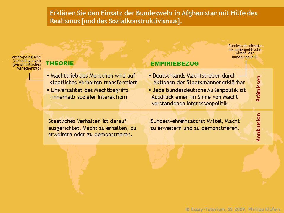 Bundeswehreinsatz als außenpolitische Aktion der Bundesrepublik