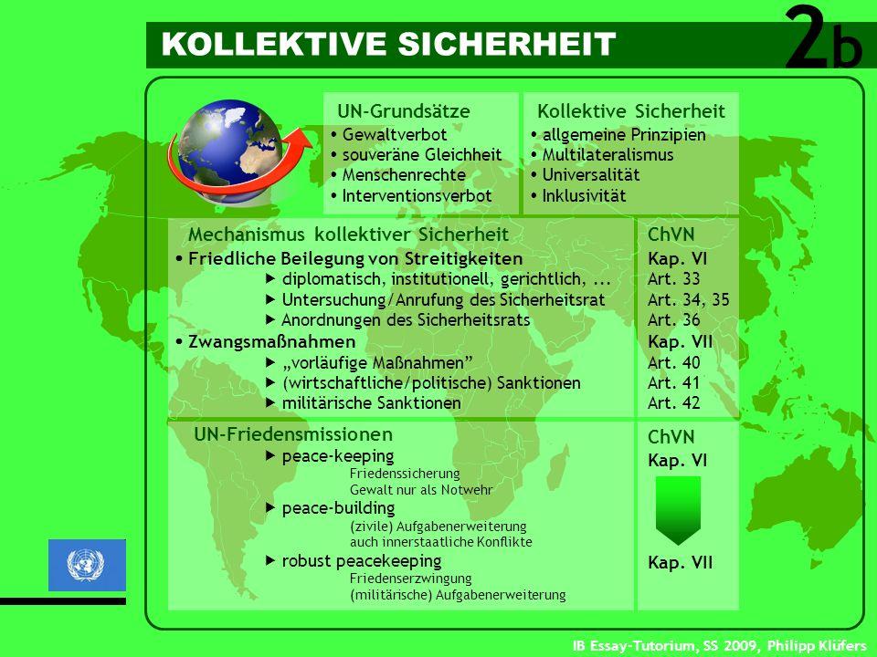 2 b KOLLEKTIVE SICHERHEIT UN-Grundsätze Kollektive Sicherheit