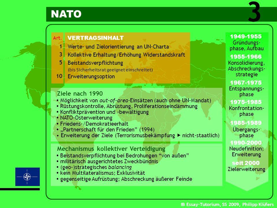 3 NATO Ziele nach 1990 Mechanismus kollektiver Verteidigung 1949-1955