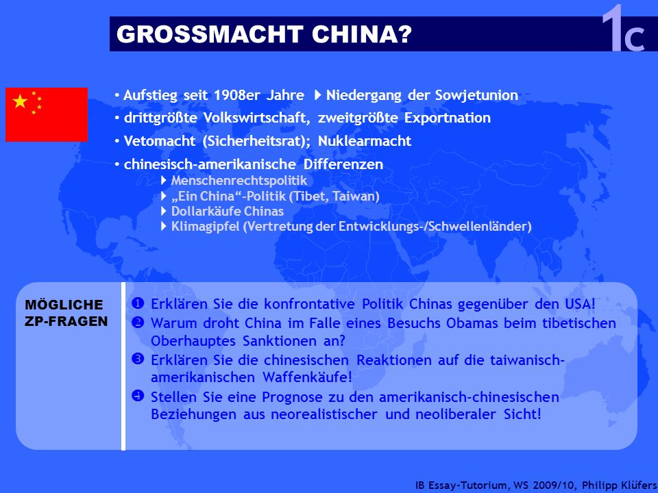 1 c GROSSMACHT CHINA    