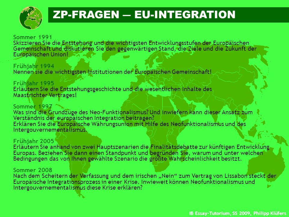 ZP-FRAGEN ― EU-INTEGRATION
